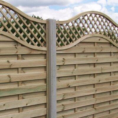 Intermediate Concrete Fence Post
