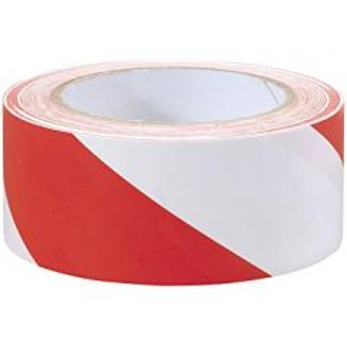 Mammoth PVC Hazard Tape Red/White 50mm x 33m