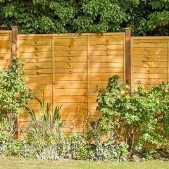Waney Lap Fence Panel Brown H 6' x W 6' GSL6